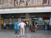 Dzień przed wernisażem - plecaczek w kolorze Afryki