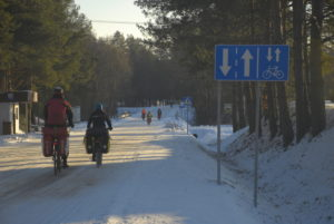 Fot. Norbert Skrzyński - styczeń 2015, etap I sztafety Rowerowe Jamboree